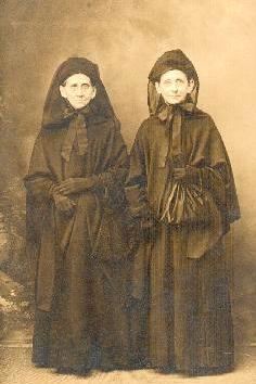 Catharine and her older sister, in mourning clothes