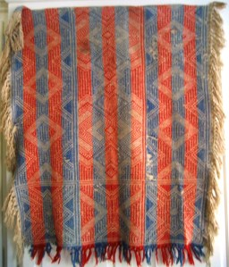 Carriage Blanket woven by Catharine Auxer Niess circa 1915