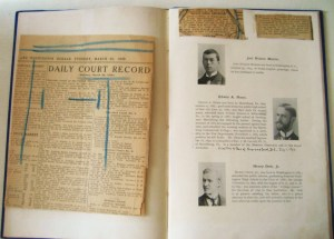 The page with Edwin A. Niess with newspaper clippings