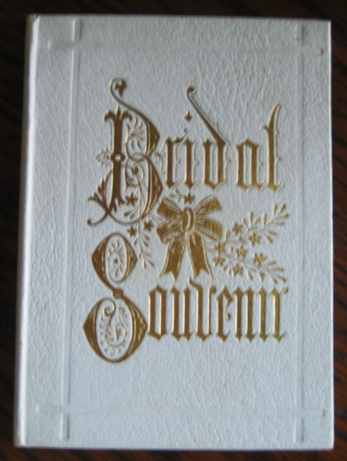 Edwin Alonzo and Carrie Virginia Carvell Niess's Wedding Book