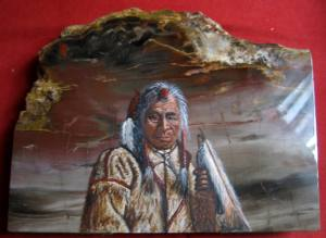 Painting on Petrified Wood ~ So Heavy!!