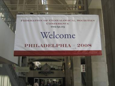 Welcome Banner across from the Exhibit Hall