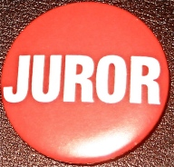 Juror Button ~ Ticket to Court Room #2